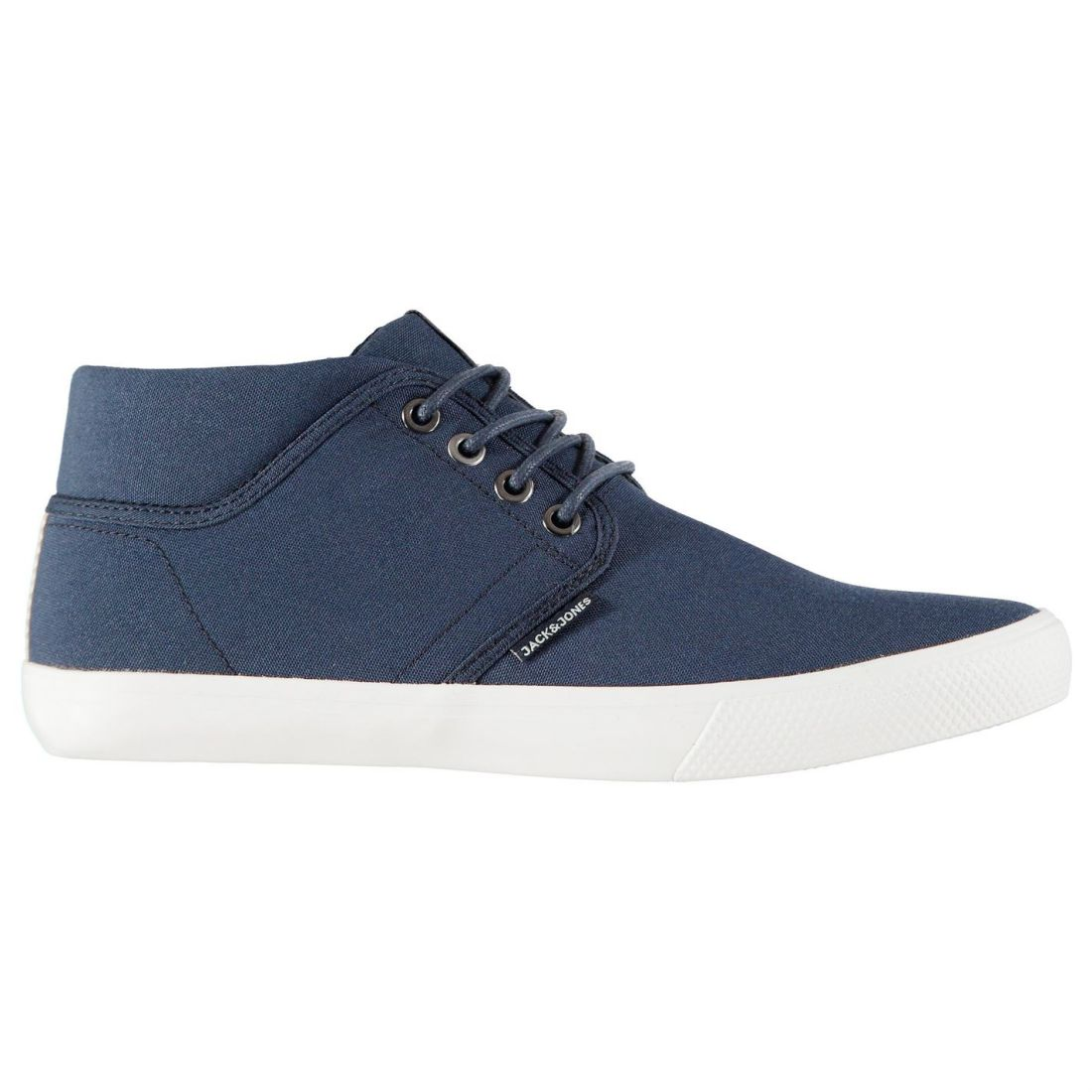 Jack and Jones Mens Vince Mid Top Trainers Sports shoes Canvas High Lace Up