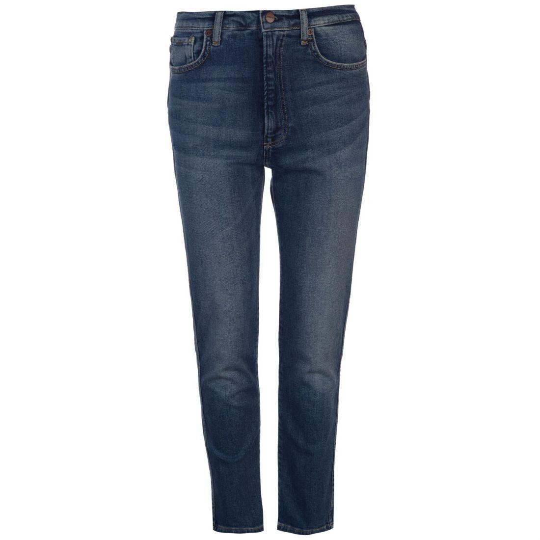 Womens Pepe Jeans Betty High Waist Straight Mom Slim Zip New