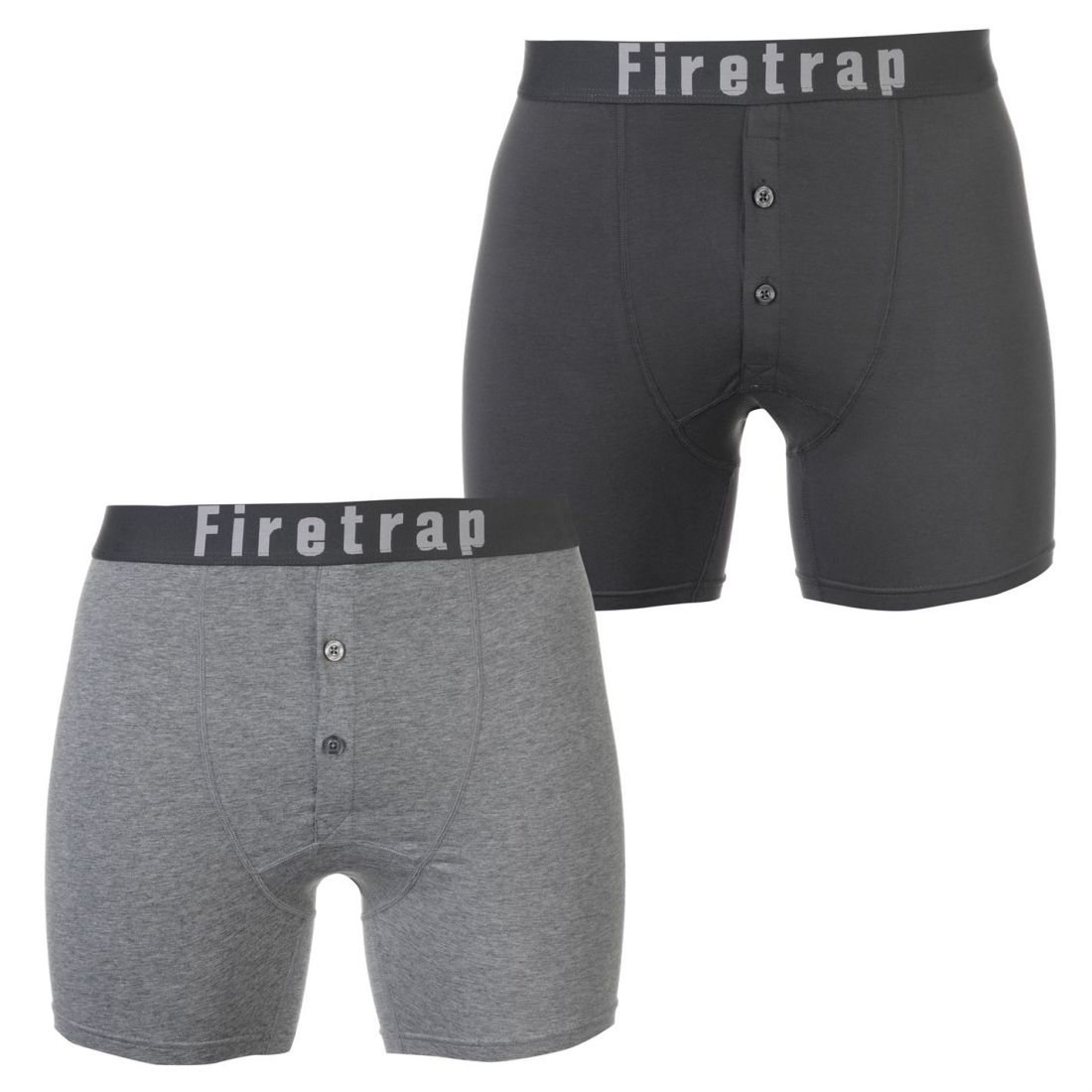 2d699d5a9ddd Image is loading Mens-Firetrap-2-Pack-Boxers-Boxer-Underwear-Stripe-