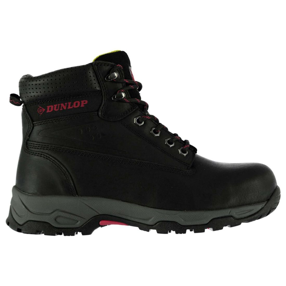 Dunlop Womens On Site Safety Boots Lace Up Work shoes Steel Toe Cap Leather