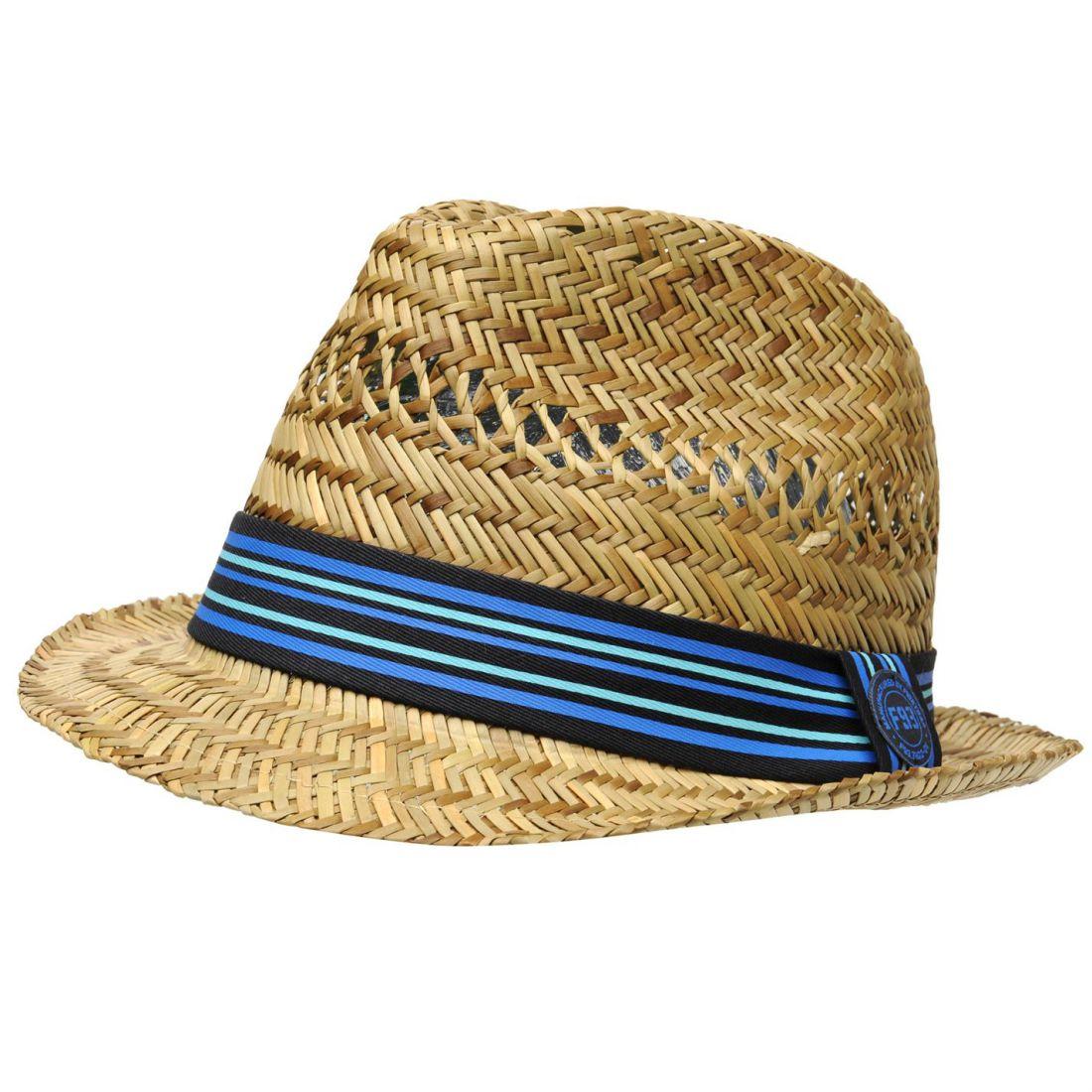 d2c517e1495 Firetrap Mens Trilby Hat Cotton
