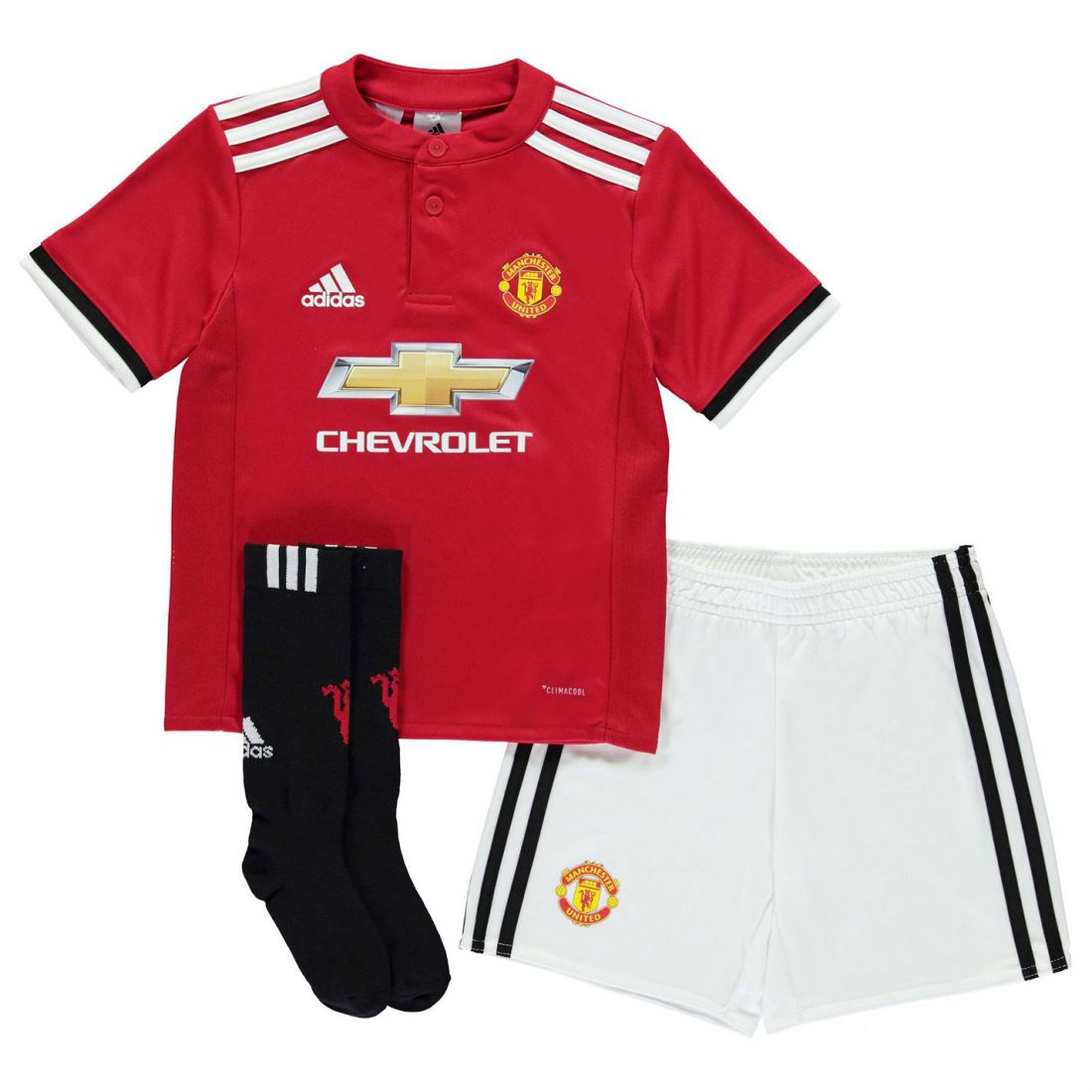 7e2a60fac adidas Kids Manchester United Home Mini Kit 2017 2018 Infant Shirt ...