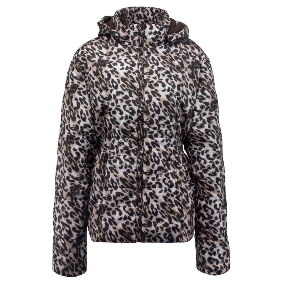 Details about Lee Cooper Womens Leopard Print Jacket Padded Coat Top High  Neck Lightweight 7a1743882d