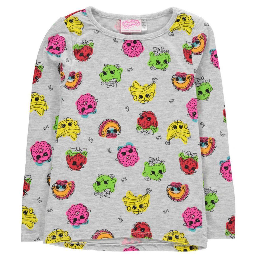 Character Kids Girls Long Sleeve Top Infant Shirt Crew Neck Print 2
