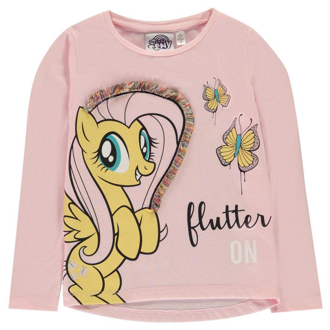 Character Kids Girls Long Sleeve Top Infant Shirt Crew Neck Print 3