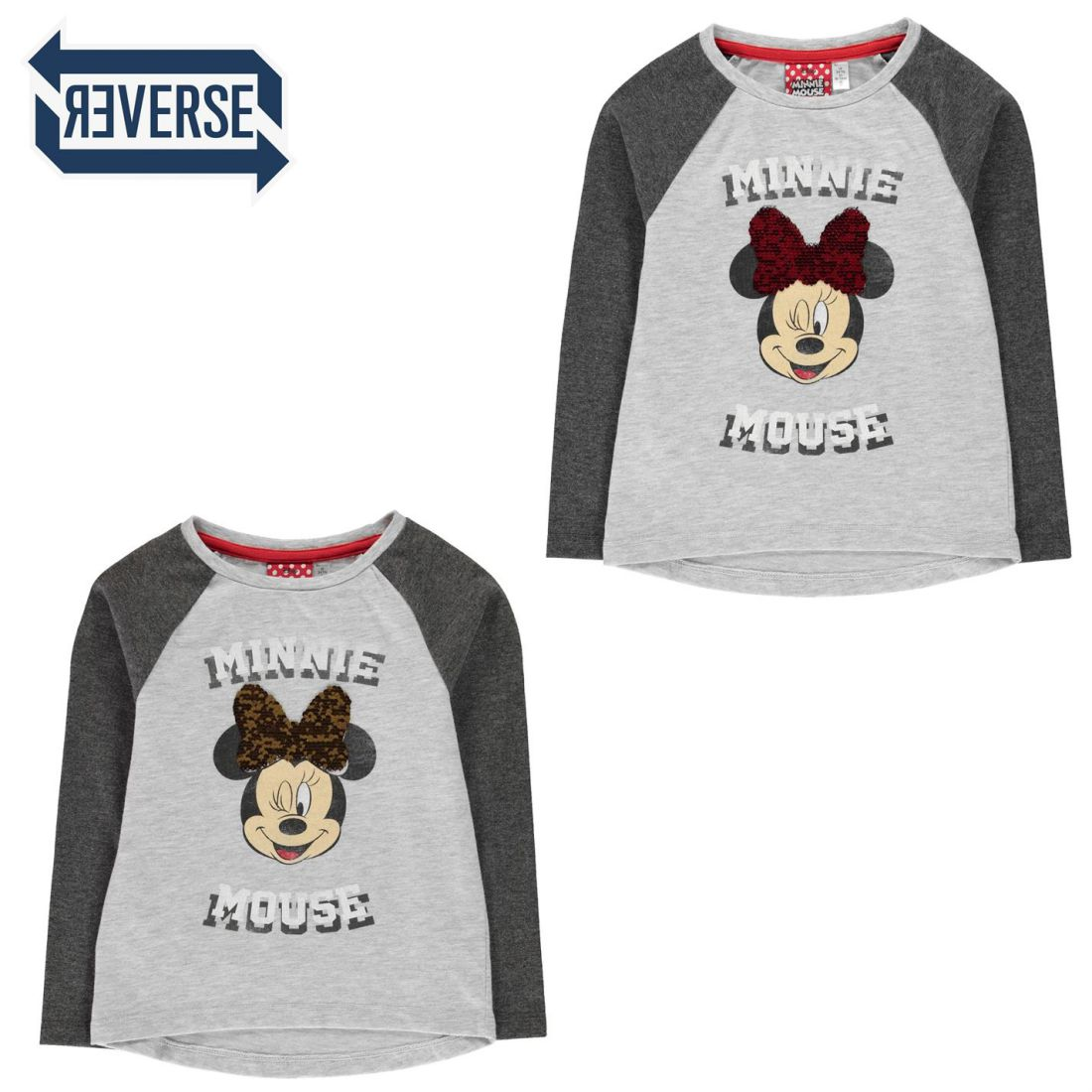 Character Kids Girls Long Sleeve Top Infant Shirt Crew Neck Print 4