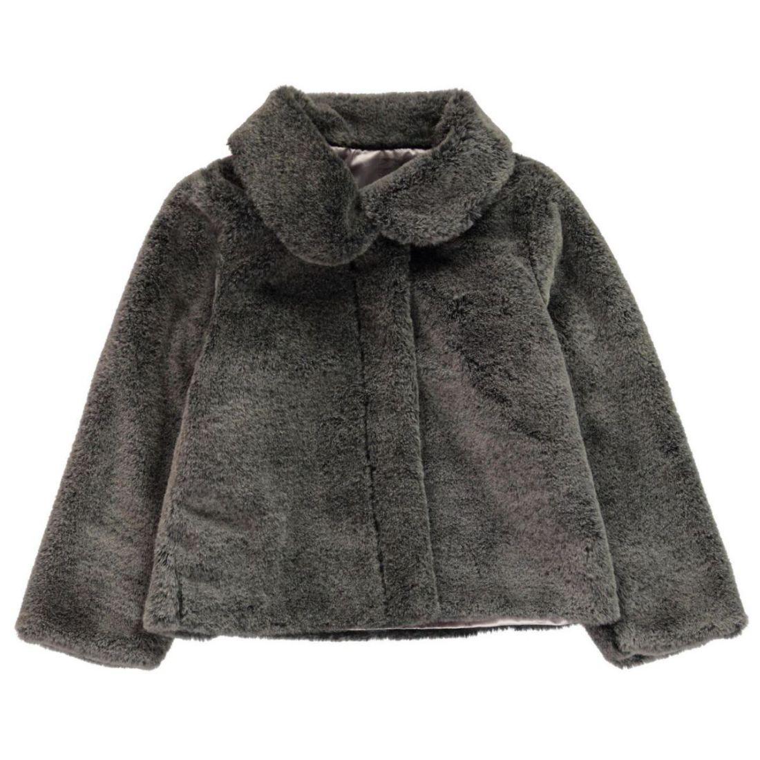a924a7cb20 Character Kids Girls Fur Coat Infant Faux Top Jacket Long Sleeve ...