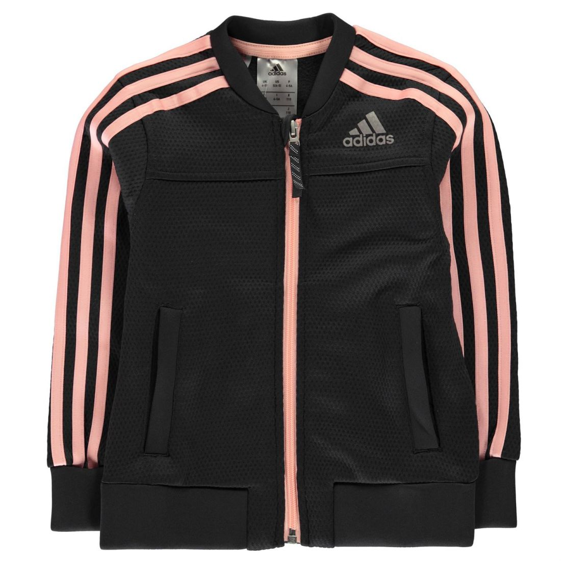 Details about adidas Kids Girls PES Cover Up Jacket Child Tracksuit Top Coat Long Sleeve