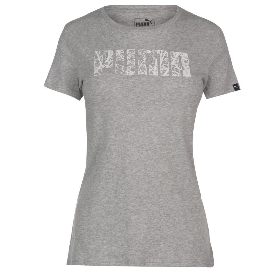 d7a1339f5416 Puma Big Logo QT T Shirt Ladies Crew Neck Tee Top Short Sleeve ...