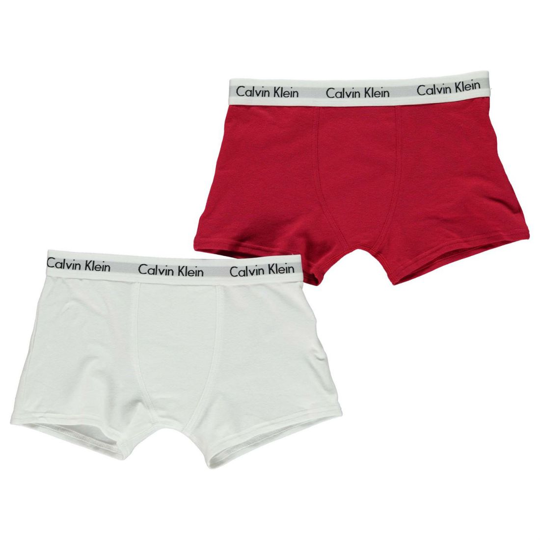 323924b340 Details about Calvin Klein Kids 2 Pack Trunks Junior Boys Elastic Boxer  Underwear Accessories