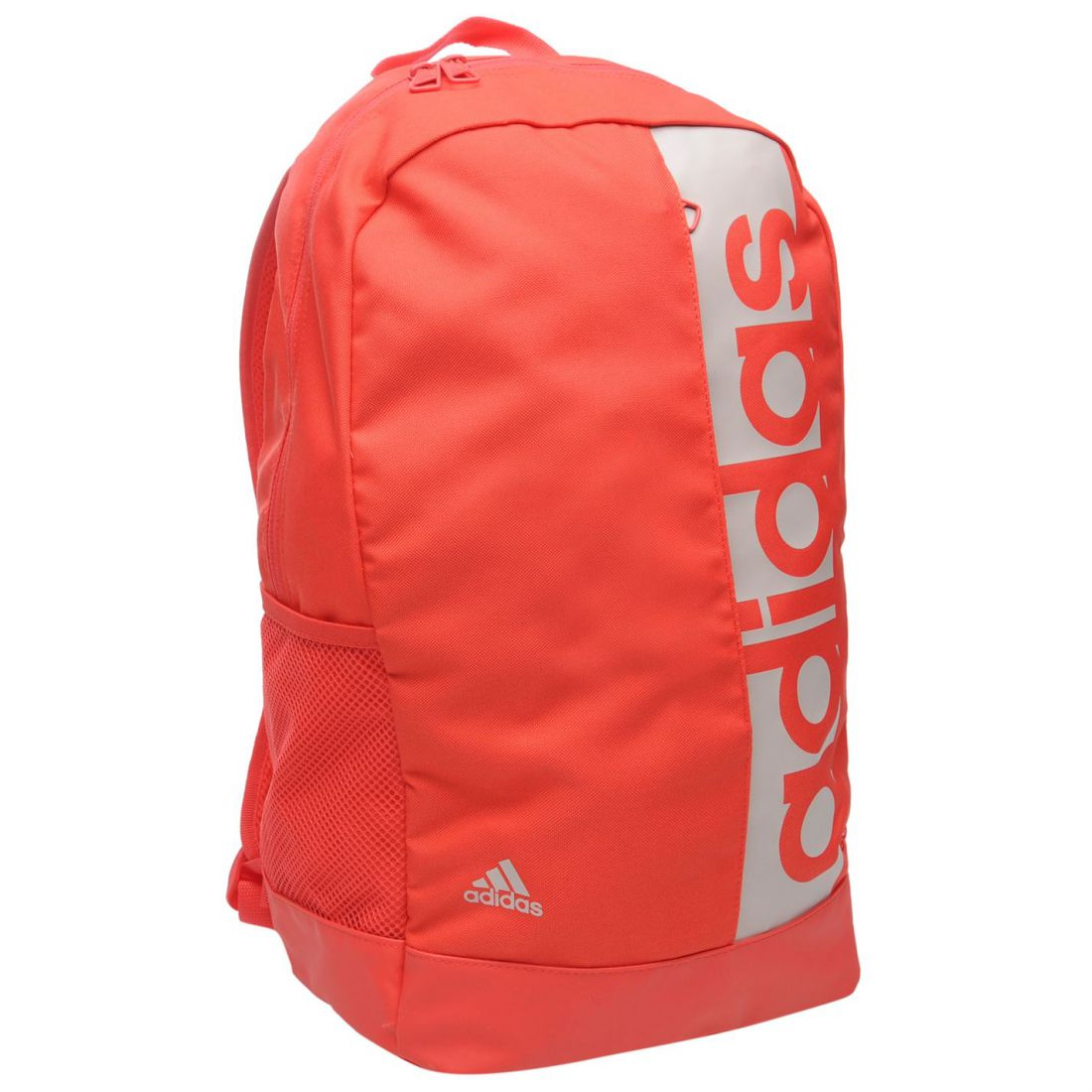 43720c505b Details about adidas Unisex Linear Backpack Back Pack Zip Mesh Sport