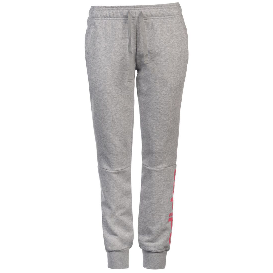 a04e6ebda41b adidas Womens Linear Closed Hem Sweat Pants Fleece Jogging Bottoms ...