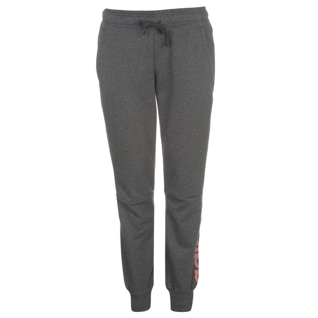 a2e444611f2b adidas Linear Closed Hem Sweat Pants Ladies Fleece Jogging Bottoms ...