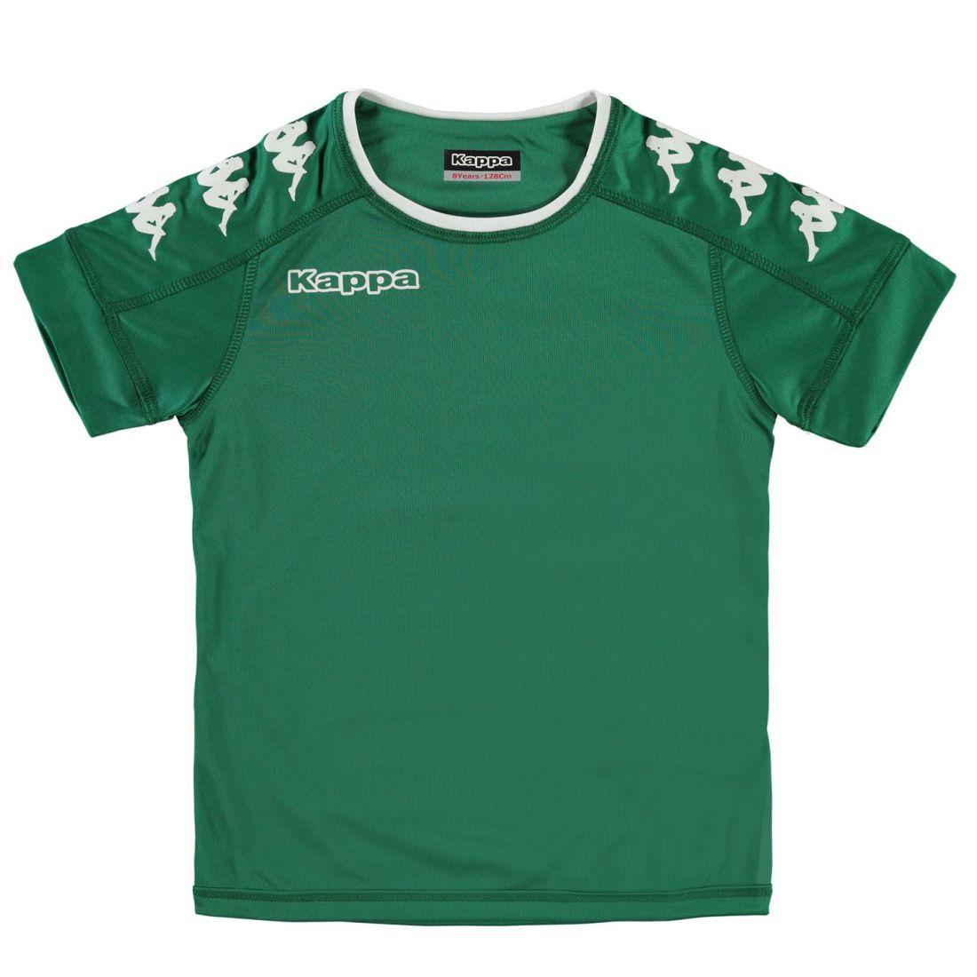 0c125e384294 Kappa Kids Boys Santos Short Sleeve T Shirt Junior Crew Neck Tee Top ...