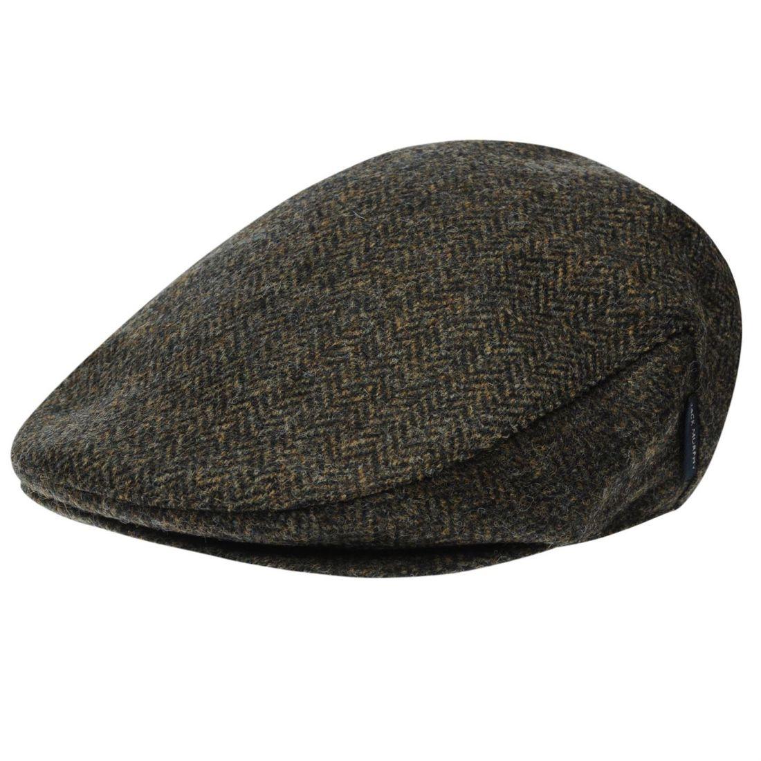96ed45602f461 Details about Jack Murphy Mens Steel Fields Tweed Flat Cap Winter Hat Faux  Fur Horses