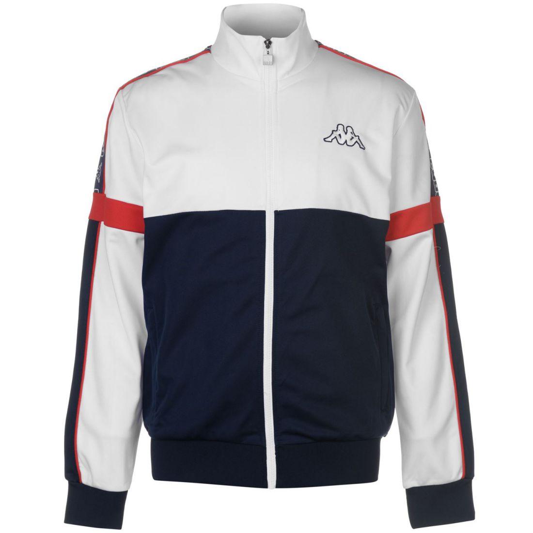 Kappa Panel Jacket Mens Gents Tracksuit Top Coat Full Length Sleeve ... 94565dad20f8