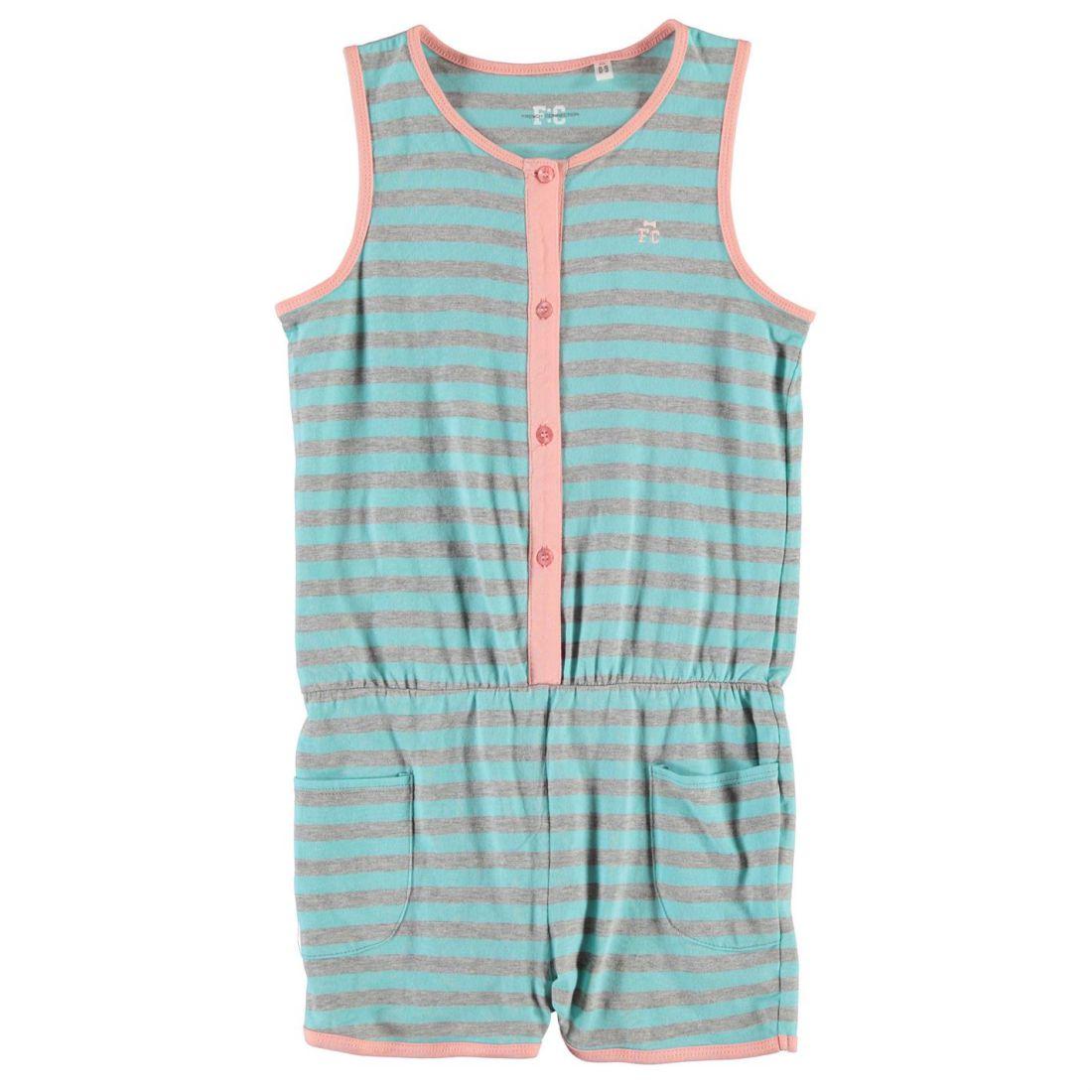 e3d89397433d French Connection Kids Stripe Playsuit Junior Girl Cotton Jumpsuit ...