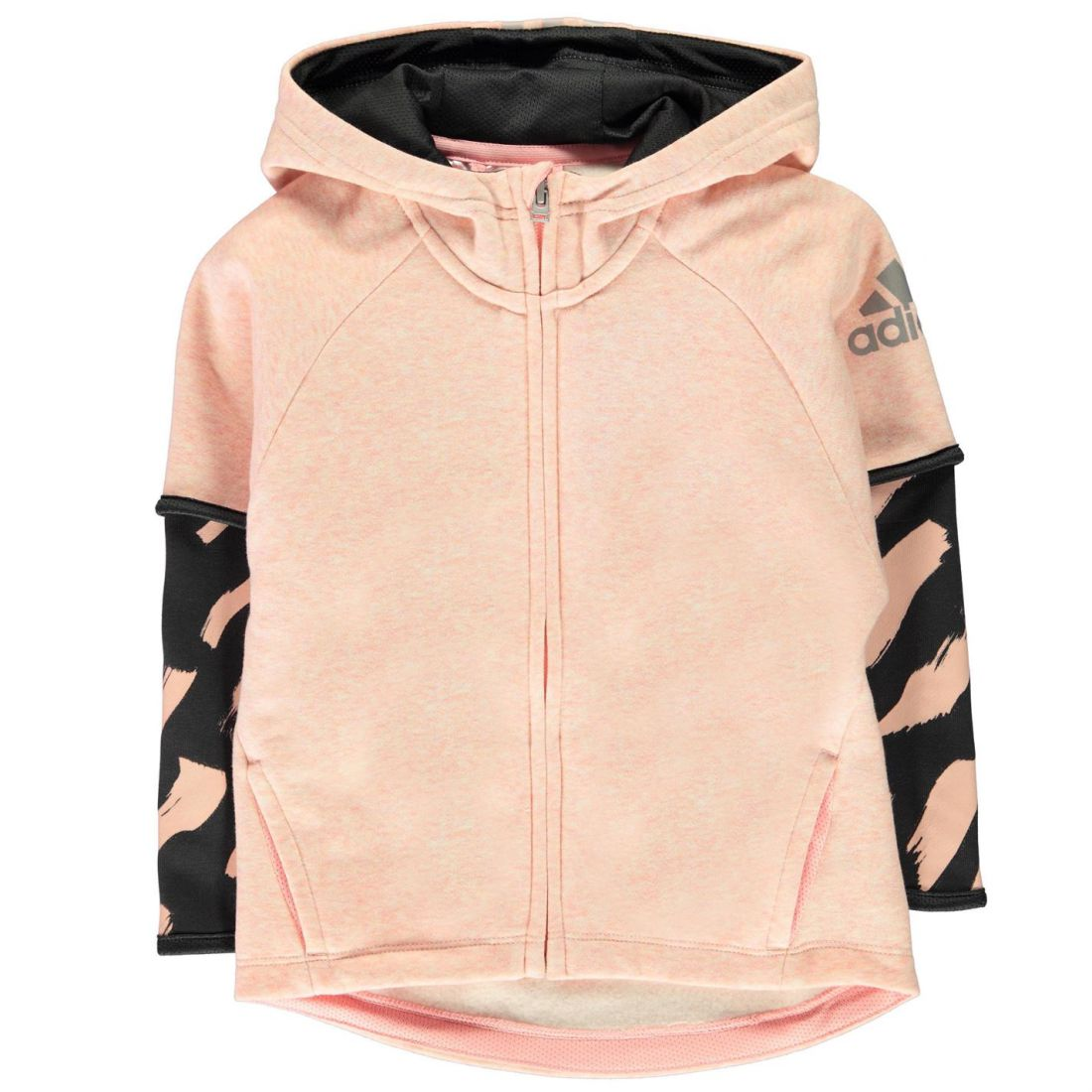 adidas Kids Girls COT Cover Up Hoodie Child Hoody Hooded Top Long Sleeve 745655e83db9