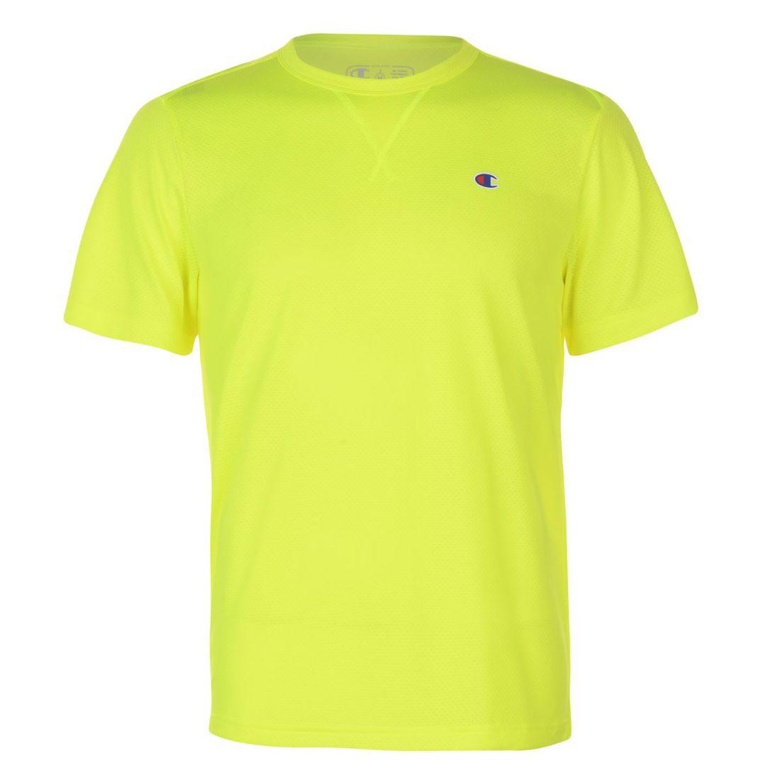 4c2ad4129602 Champion Mens Mesh T Shirt Short Sleeve Performance Tee Top Round ...