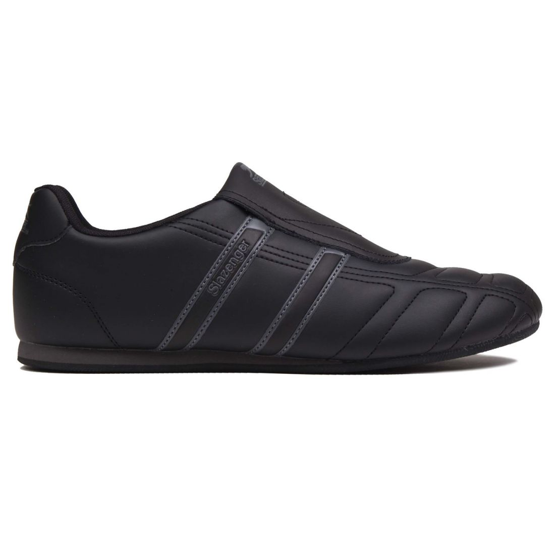 Details about Slazenger Mens Warrior Fashion Trainers Slip On Leather Sports Shoes Footwear