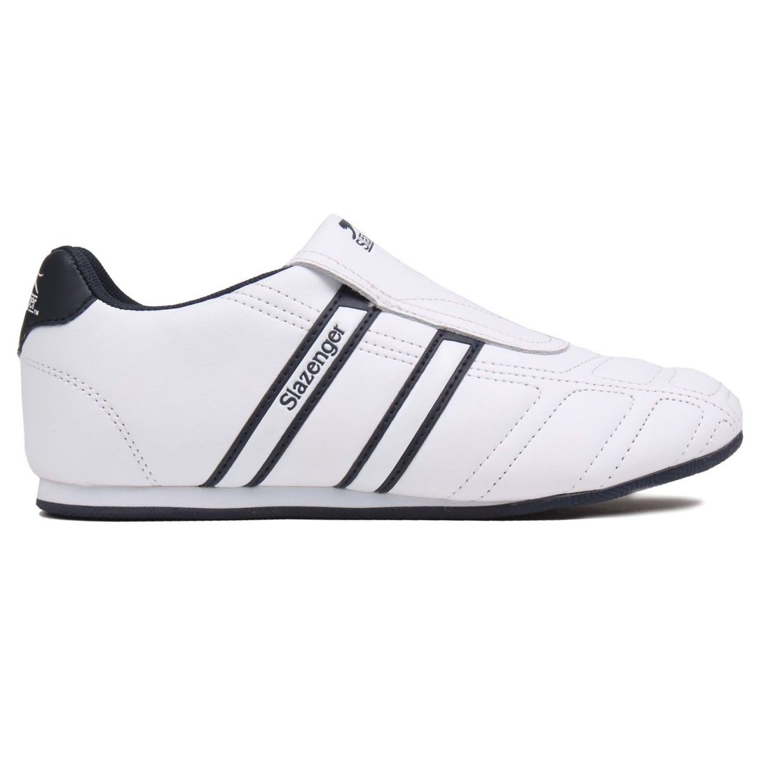 Details about Slazenger Gents Mens Warrior Sneakers Trainers Slip On  Leather Sports Shoes