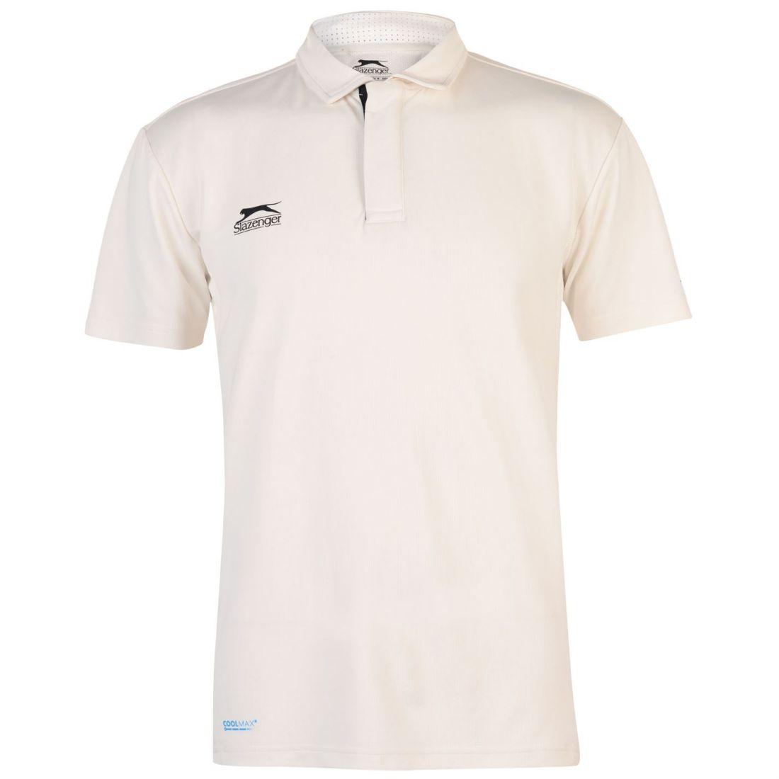 6b0ba3cb Image is loading Slazenger-Mens-Aero-Cricket-Shirt-Short-Sleeve-T-
