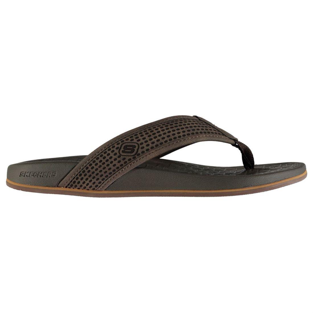 92e7d9966748 Details about Skechers Mens Pelem Emiro Flip Flops Strap Toe Post  Comfortable Fit Memory Foam