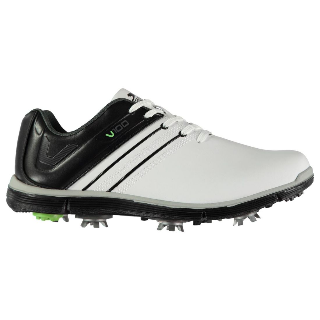 76fcbc4474 Image is loading Slazenger-V100-Golf-Shoes-Mens-Gents-Spiked-Laces-