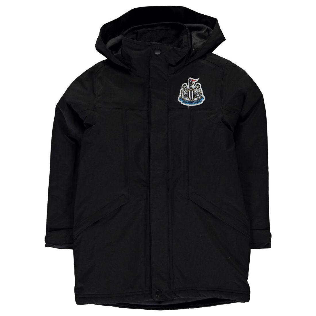 ad45e02f774e Team Kids Boys Parka Jacket Junior Coat Top Long Sleeve Hooded Zip ...