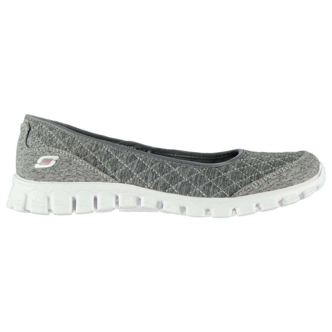 f84b2a72af93 Details about Skechers Womens Ladies EZ Flex 2 Slip On Trainers Flat Sports  Shoes Insole