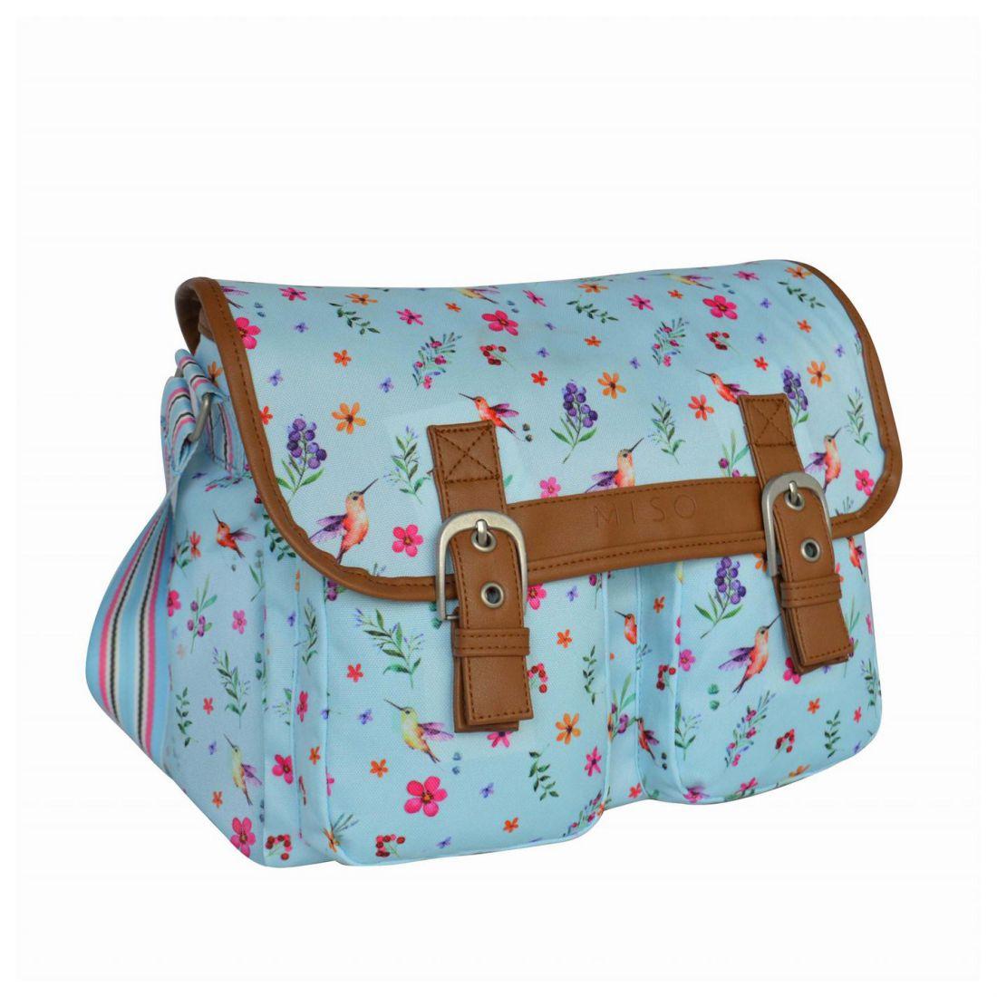d625117fae9b Details about Miso Canvas Satchel 74 Ladies Shoulder Pack Case Sack Holdall
