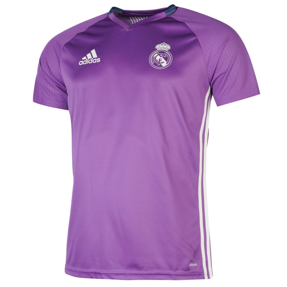adidas Mens Real Madrid T Shirt Short Sleeve V Neck Football Sports  Training Top Purple L. About this product. Picture 1 of 5  Picture 2 of 5   Picture 3 of ... 75c9e793c
