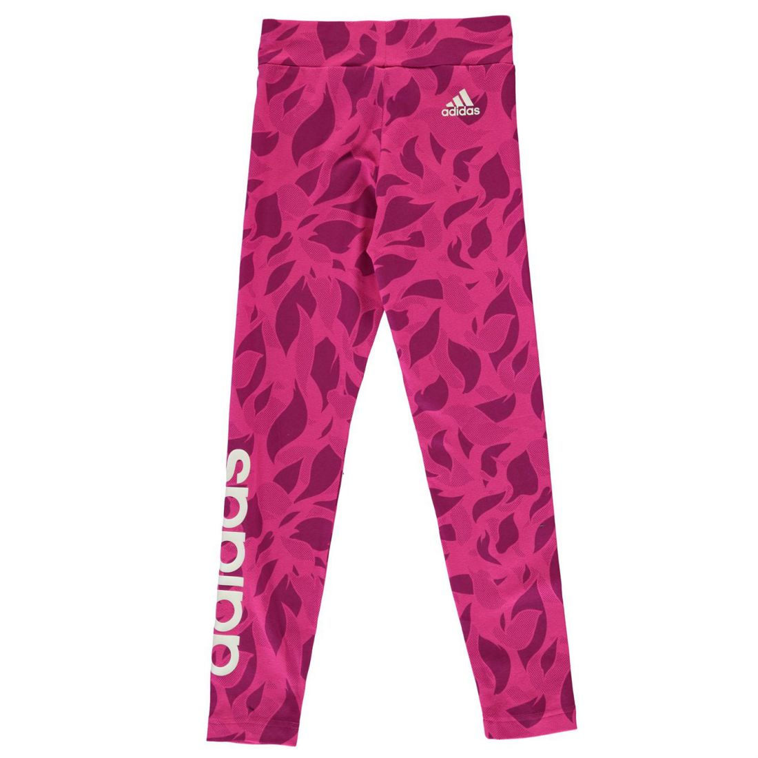 810483412759fc Image is loading adidas-Kids-Girls-Lined-Print-Tights-Junior-Performance-