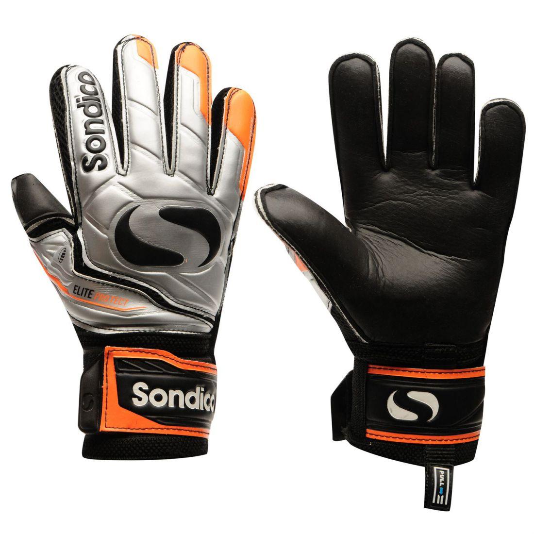 84c0821ab8b Sondico-Mens-EliteProtect-Goalkeeper-Gloves-Football-Training-Sports-