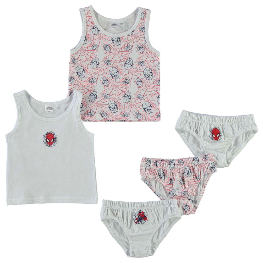 7b13135d7 Kids Briefs Underwear Character 5 Pack Vest and Brief Set Infant ...