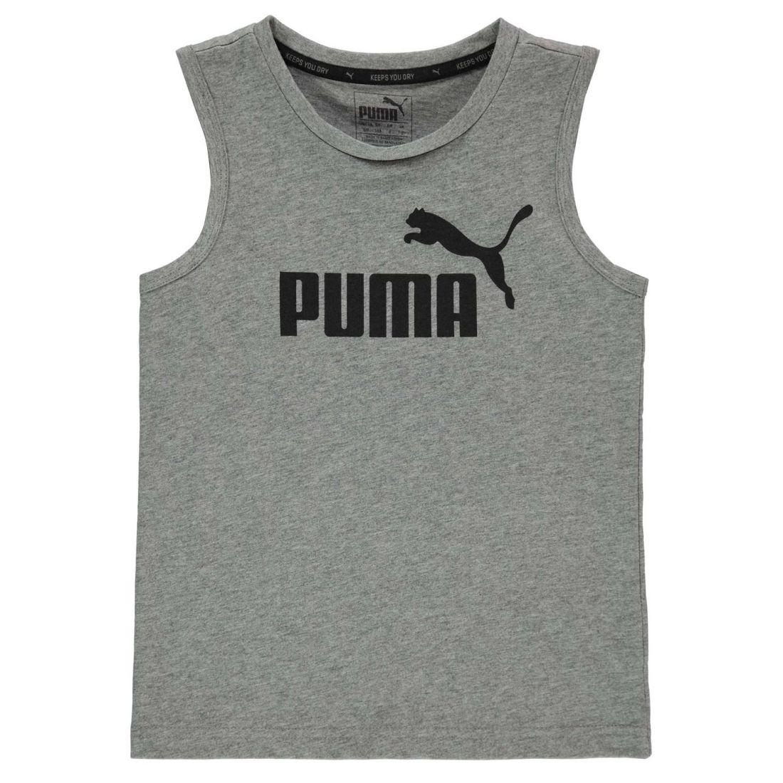 fbab0085cbc361 Puma Kids No1 Sleeveless T Shirt Tee Top Crew Neck Cotton Regular ...