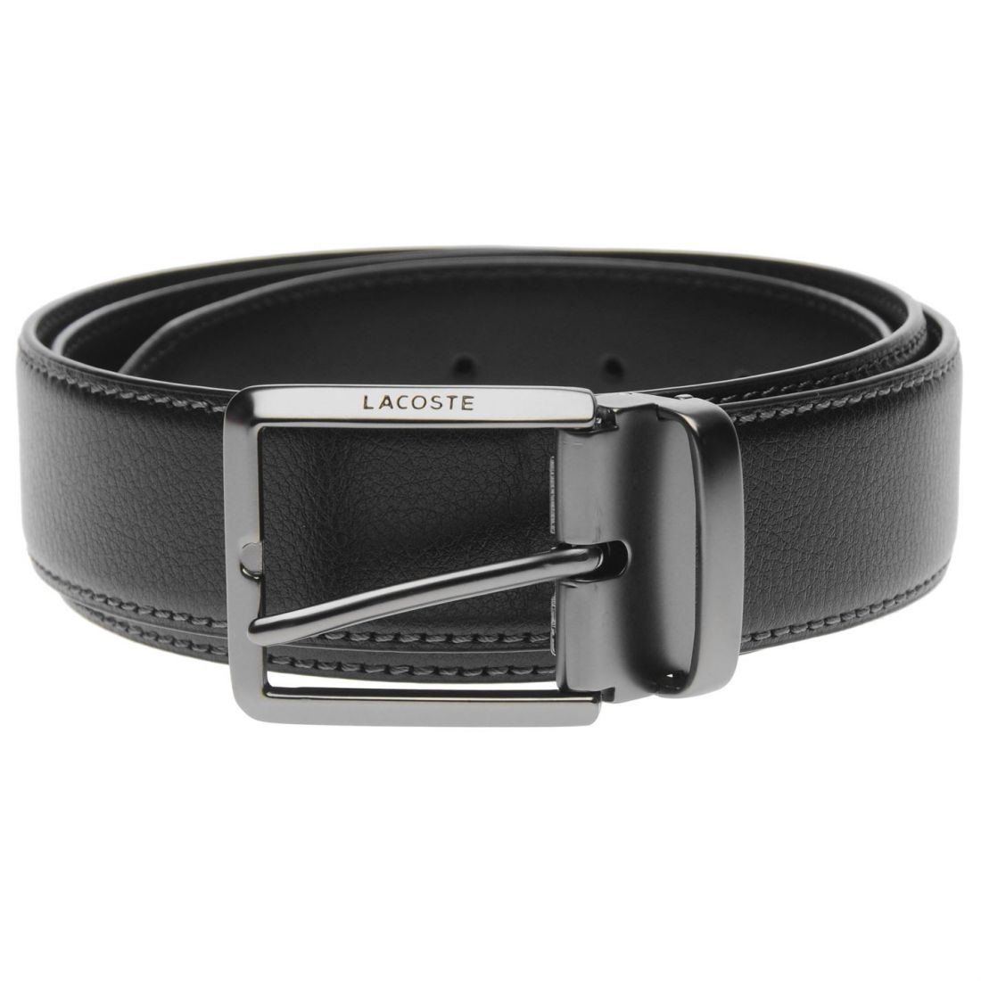 bdc4667e6d31 Details about Mens Lacoste Engraved Buckle Leather Belt New