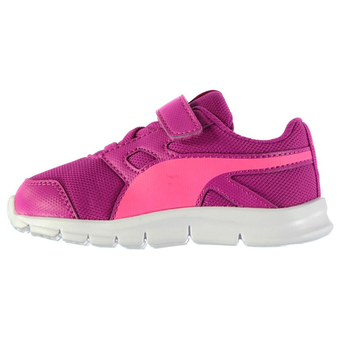 7657906f24f0 Details about Puma Kids Flexracer Trainers Runners Lace Up Shoes Breathable  Infant Girls