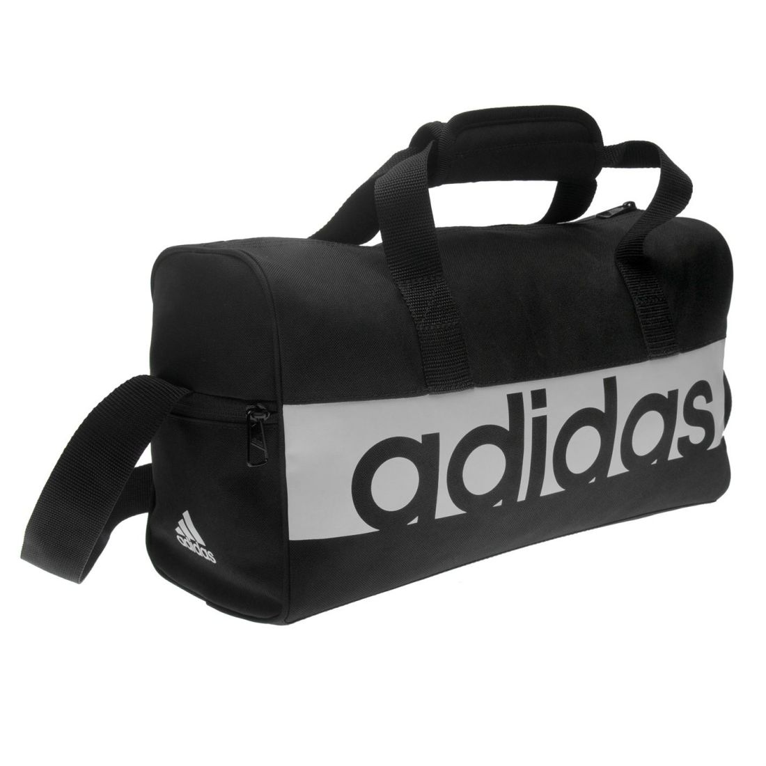 ebce591c8a adidas Unisex Linear Team Bag Extra Small Holdall Zip Print Printed ...
