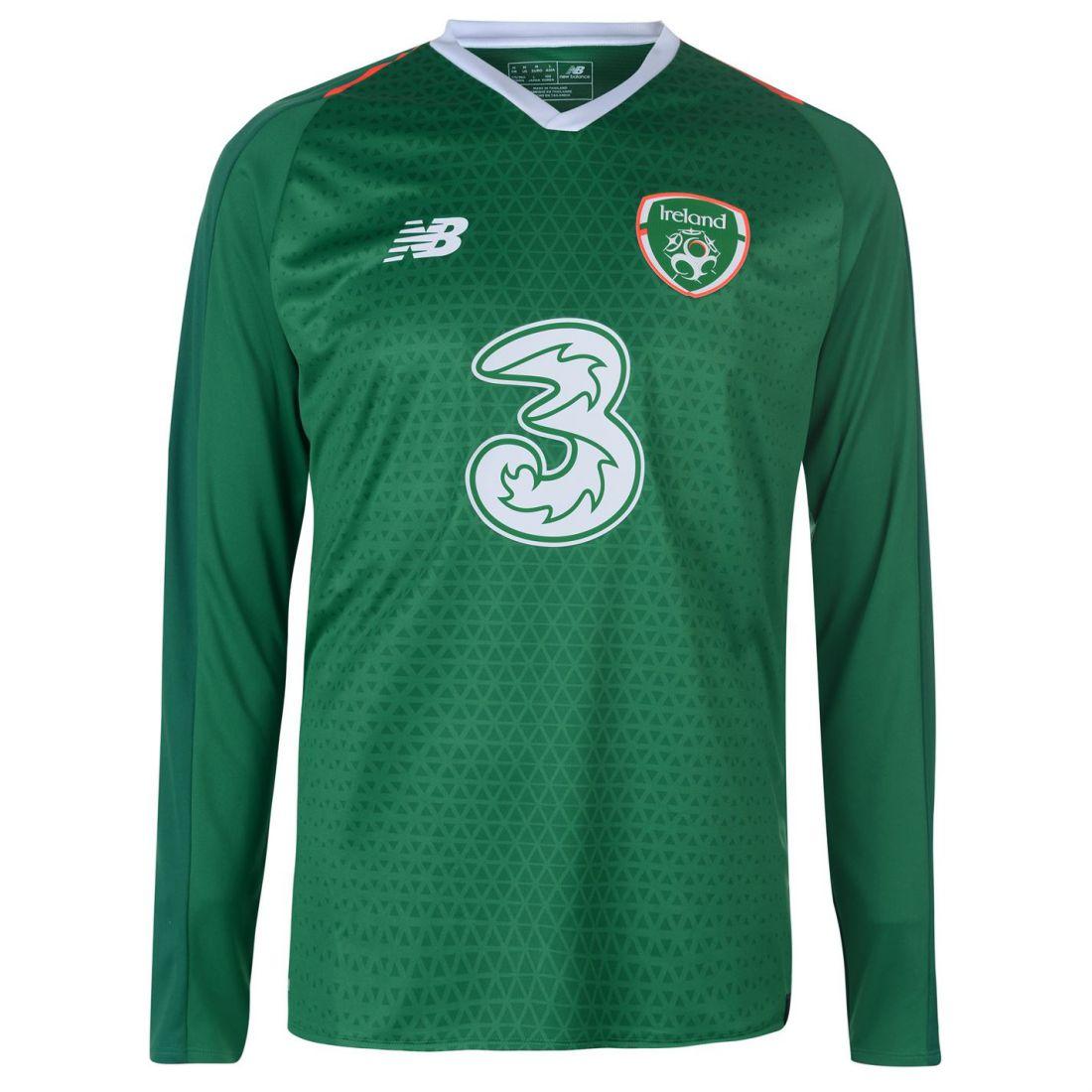 New balance Ireland Inicio para hombre Manga larga Jersey Camisa Internacional