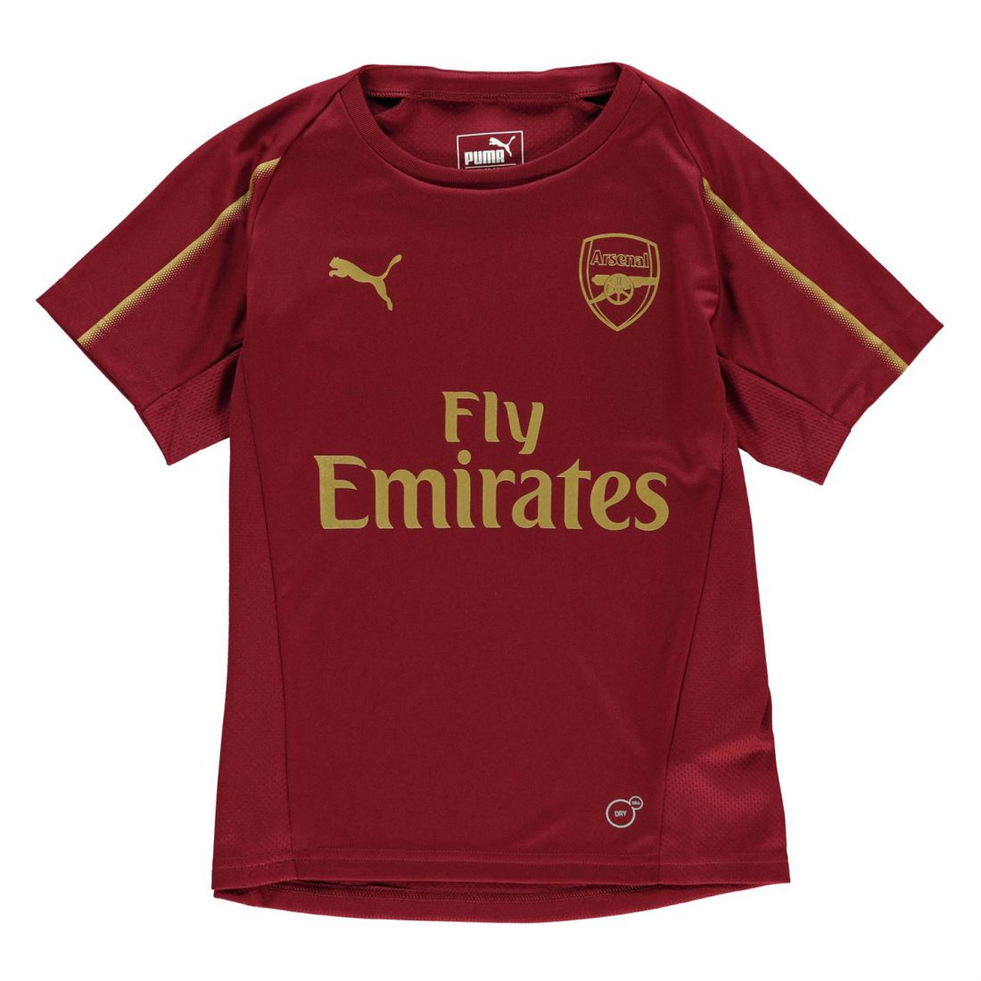 d50f06c37d0 Puma Kids Boys Arsenal Training Shirt 2018 2019 Junior Short Sleeve ...