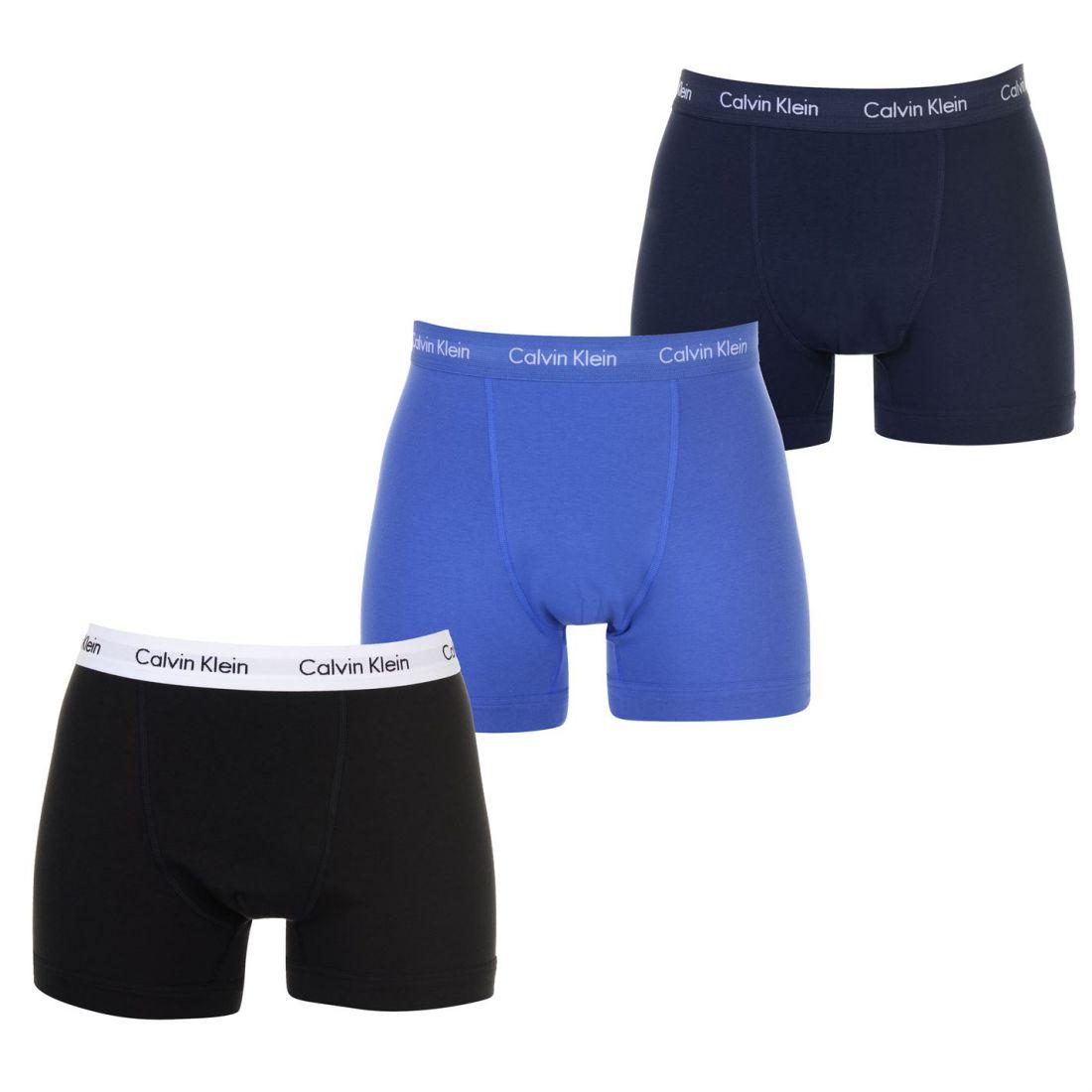 4e1e42b43 Mens Calvin Klein 3 Pack Trunks Underwear Elasticated Waist New ...