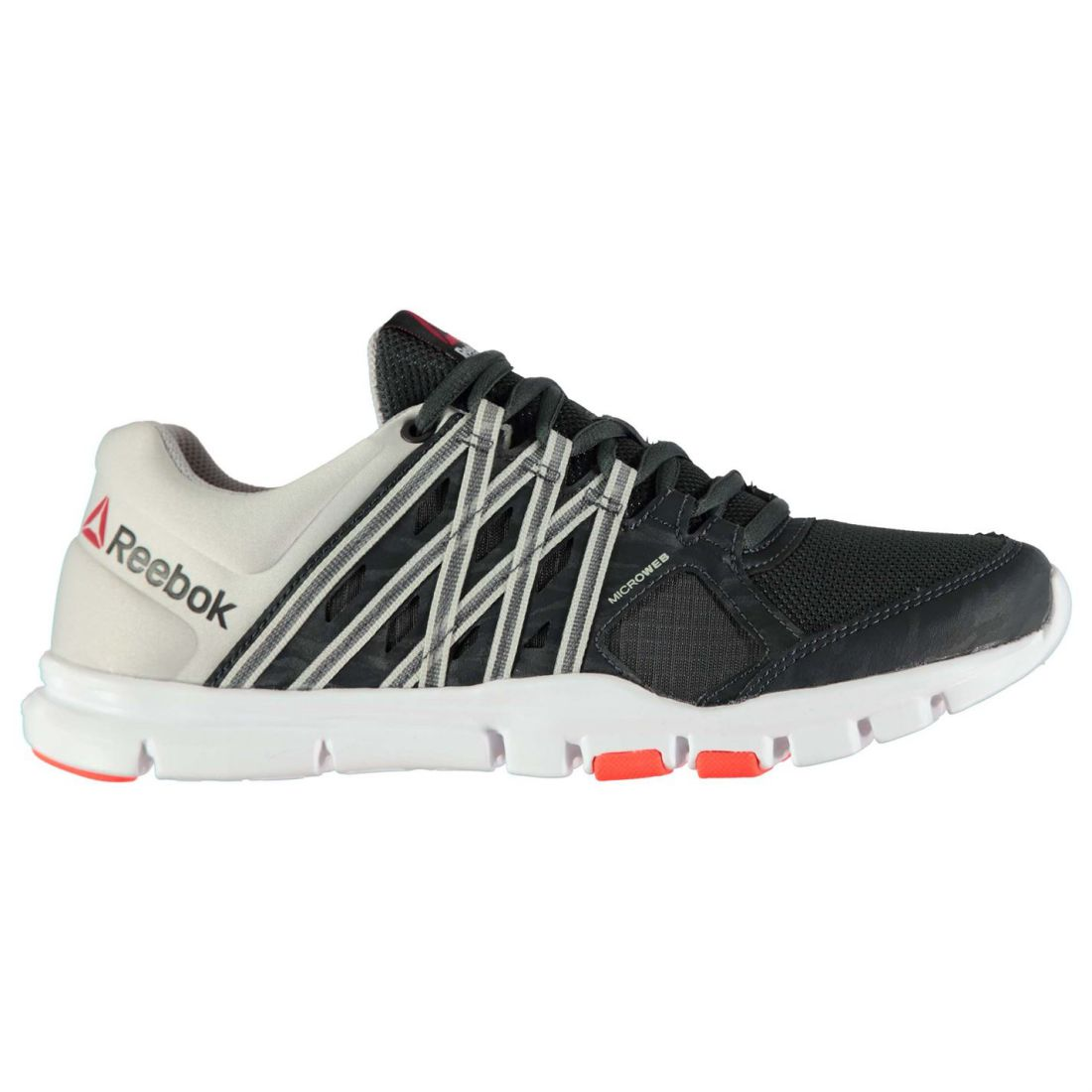 Reebok Mens Yourflex 8 Trainers Laced Textile Sports Shoes Memory Tech  Insole 79f5d9a88