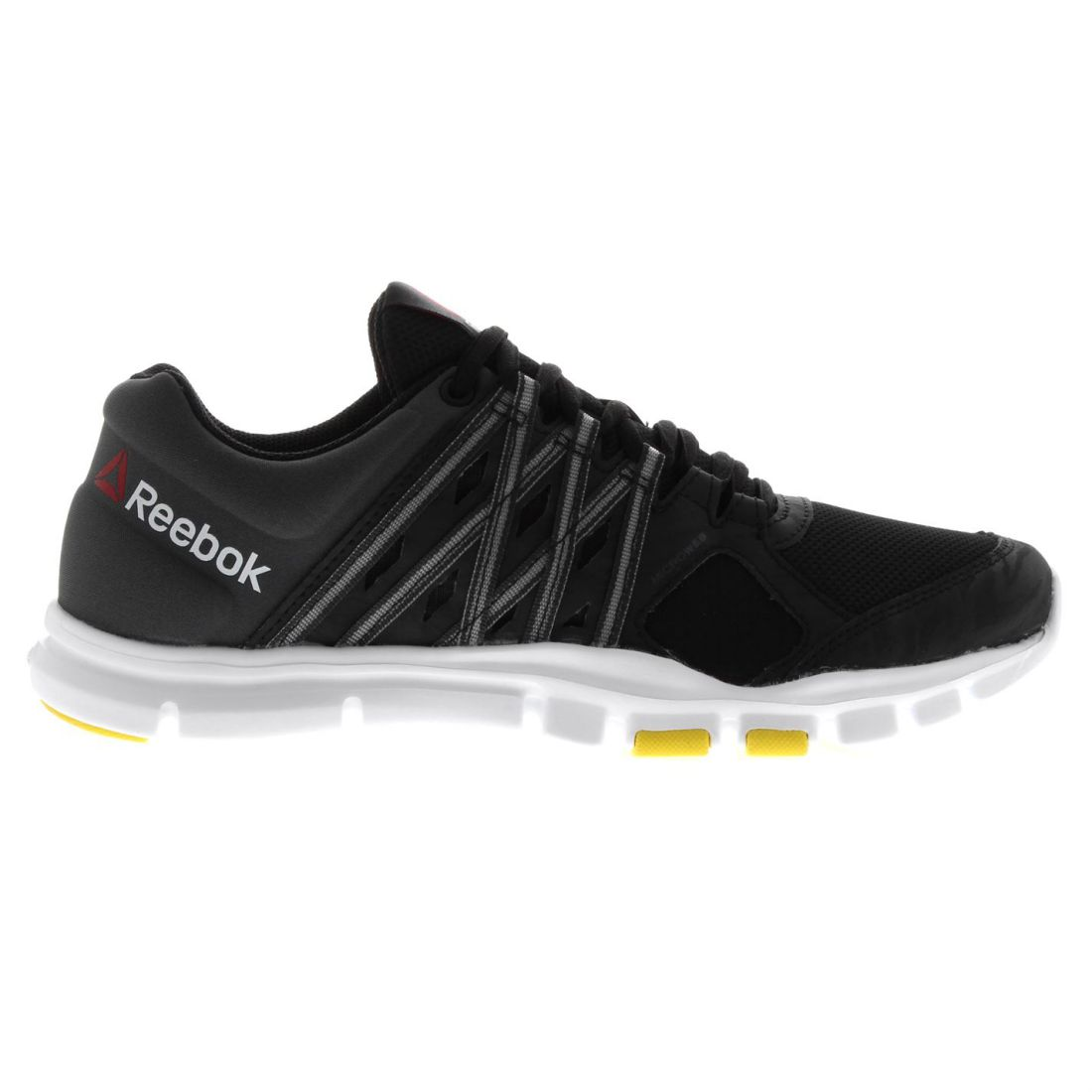 2baa302c3e4a Details about Reebok Mens Yourflex 8 Trainers Laced Textile Sports Shoes  Memory Tech Insole
