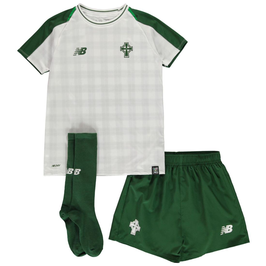 8c1779c4a Details about New Balance Celtic Away Mini Kit 2018 2019 Childrens Domestic  Minikits Football