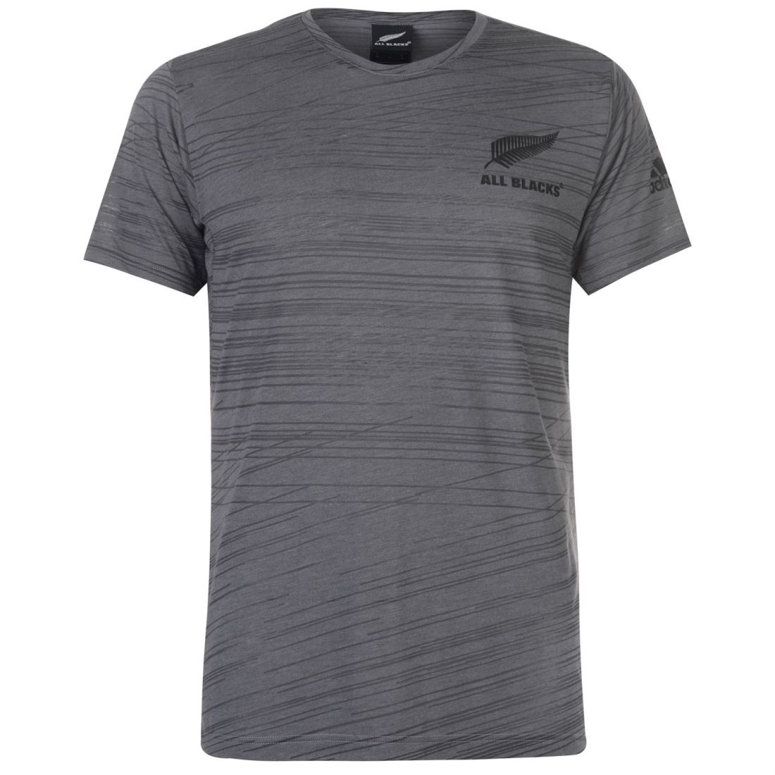 bb00720b45826 adidas Mens New Zealand All Blacks Poly T Shirt Training Tee Top Short  Sleeve