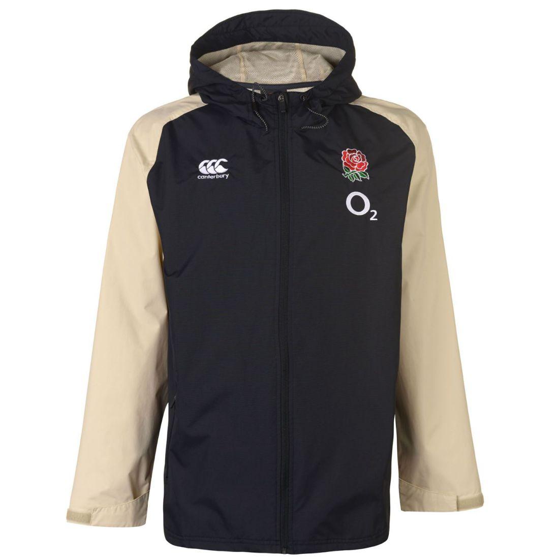À Canterbury Repellent Capuche rouge Haut Manteau Water England Noir Résistant Jacket w6qr6E