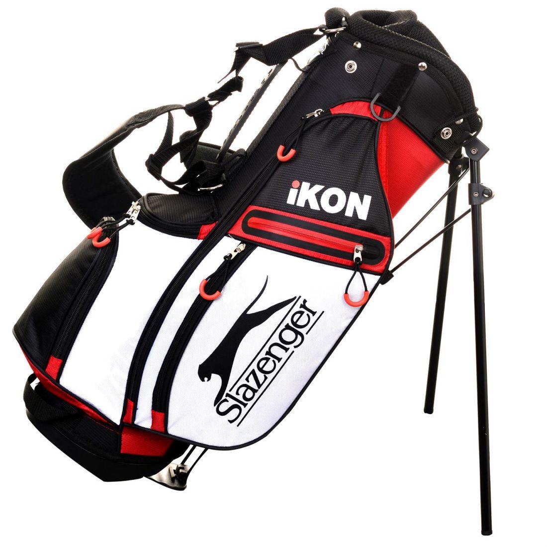 96d513ea0e1 Details about Slazenger Kids Ikon Stand Bag Junior Golf