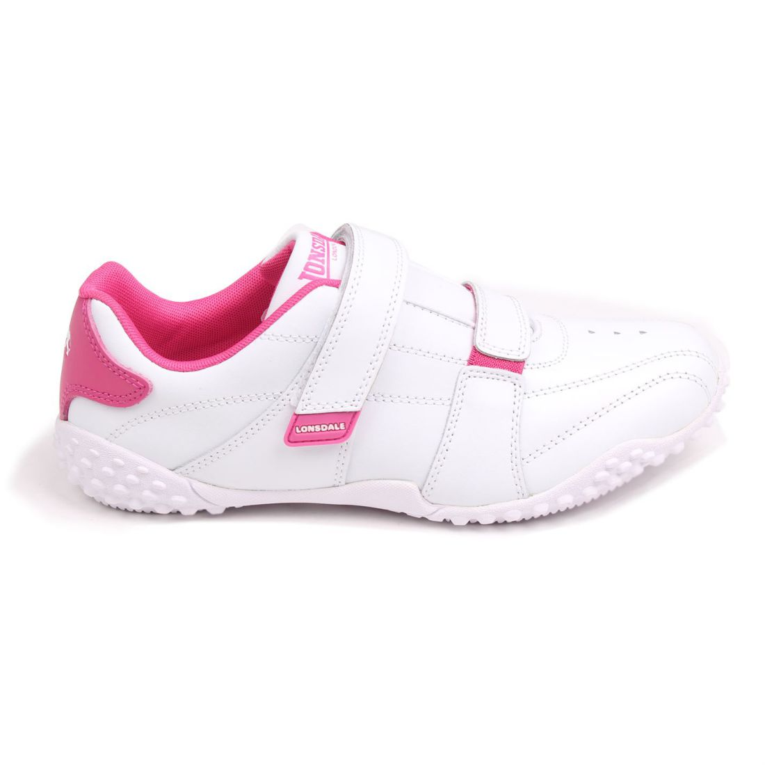 b961d64db9e6 Image is loading Lonsdale-Womens-Ladies-Fulham-Trainers-Sports-Padded-Ankle-