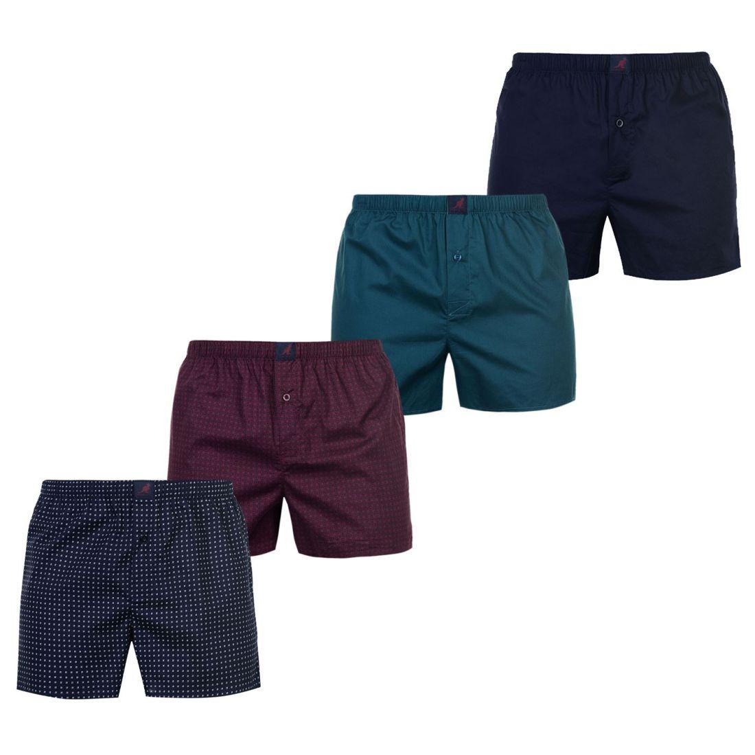 caaae06088e996 Kangol Woven Boxer Shorts 4 Pack Mens Gents Underclothes Cotton Elasticated  2 2 sur 2 Voir Plus